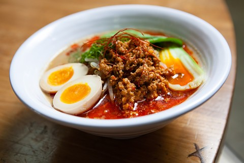 Spicy tantanmen-style ramen at Shiba Ramen. - BERT JOHNSON/FILE