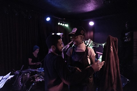 Rappers Jay Stone and Queens D.Light at The Night Light. - MICHAEL MILLER