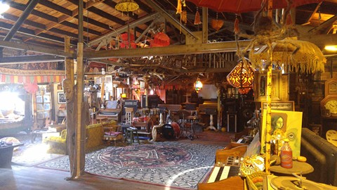 "The inside of the ""Ghost Ship"" warehouse. - HTTP://WWW.OAKLANDGHOSTSHIP.COM/"