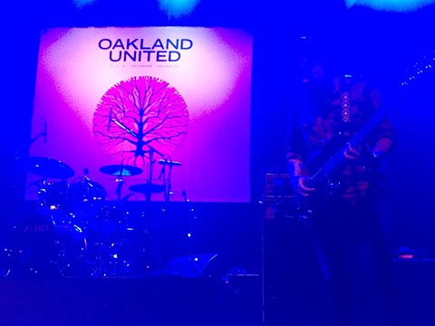 Rogue Wave performs at Oakland United, a packed house benefit for Oakland fire victims and families last night at the Fox Theater.