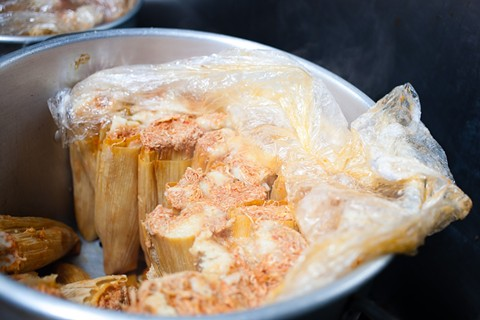 The jumbo-size tamales at Tamaleria Azteca. - BERT JOHNSON/FILE PHOTO