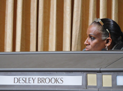 Councilmember Desley Brooks was critical of the court-appointed monitor's work.