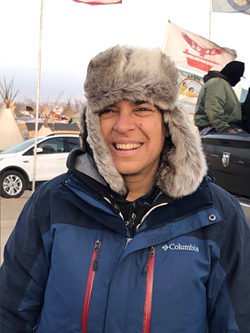 Rebecca Kaplan at the Oceti Sakowin camp in North Dakota.