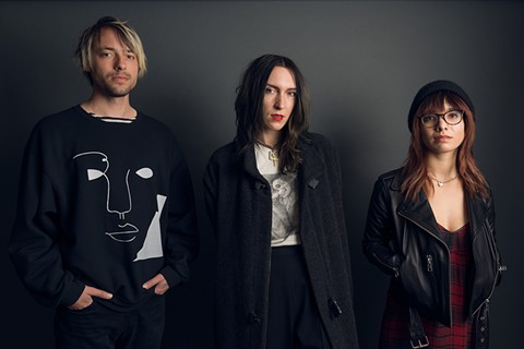 Wax Idols (left to right: Peter Lightning, Hether Fortune, Rachel Travers) re-issue American Tragic on their own label this week. - LANCE YAMAMOTO