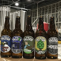 New Faction bottles ready to be filled with fresh brew.