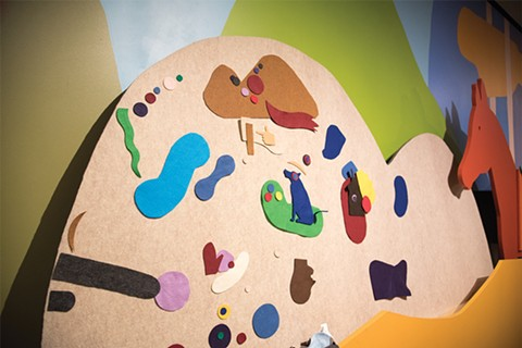 The felt room at the exhibition was designed by Craig Hansen. - NICK WONG