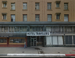 Hotel Travelers is being converted into market rate rentals. - VIA GOOGLE MAPS