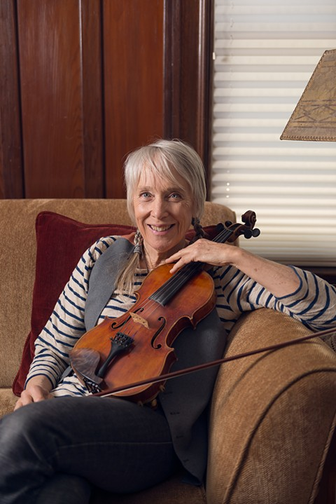 Bluegrass musician Laurie Lewis helps put together the Berkeley Bluegrass Festival. - LANCE YAMAMOTO