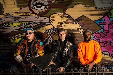 Trumpeter extraordinaire Matt Doe, sax prodigy Leo P., and distinctive percussionist King of Sludge. - PHOTO COURTESY OF TOO MANY ZOOZ