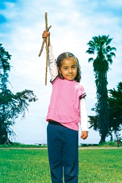 Raquel Muñoz at Crab Cove in Alameda. - PHOTO BY SAM ZIDE
