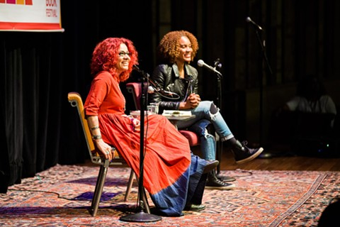 Mona Eltahawy and Chinaka Hodge at the 2016 Bay Area Book Festival. - COURTESY OF THE BAY AREA BOOK FESTIVAL