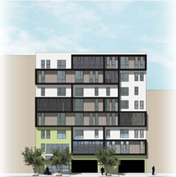 The 40-unit 632 14th Street was the only affordable housing project issued a building permit in Oakland in 2016. - META HOUSING CORPORATION.