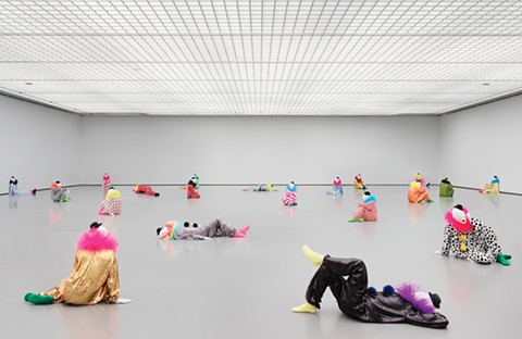 Forty-five life-sized clown sculptures will overtake BAMPFA during the only West Coast stop for Ugo Rondinone: the world just makes me laugh. - PHOTO COURTESY OF BAMPFA