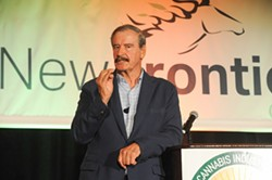 Former president of Mexico Vincente Fox delivering the keynote address at the NCIA summit. - COURTESY OF NCIA