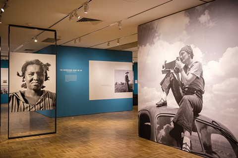 The first images at Dorothea Lange: Politics of Seeing, now on show at the Oakland Museum of California. - PHOTO BY ROSA FURNEAUX