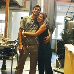 Rose's Taproom co-owners Luke Janson and Hillary Rose Huffard, pictured earlier this month. - COURTESY OF ROSE'S TAPROOM' FACEBOOK