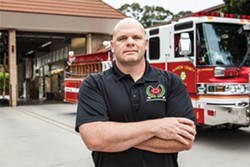 Sean Burrows, president of the Alameda County Firefighters union, wants a chance to bid on emergency-medical services contracts. - SAM ZIDE