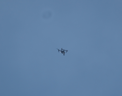 The Alameda County Sheriff's Office used its drone to locate hotspots in the fire. - DARWIN BONDGRAHAM
