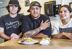 Connor, Joseph, and Olivia serve up the comfort food at Burma Bear in Oakland. - PHOTO BY DARRYL BARNES