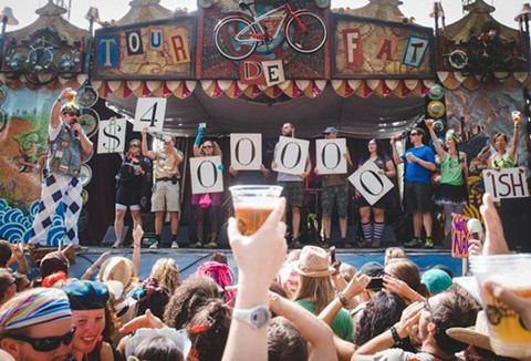 "New Belgium's ""Tour de Fat"" beer-circus tour also raises money for charity. - COURTESY OF NEW BELGIUM"