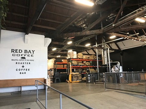 The entrance to Red Bay Coffee Roastery & Bar, which recently opened to the public. - JANELLE BITKER