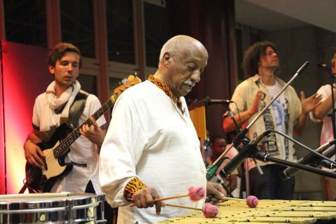 Mulatu Astatke performing with the Black Jesus Experience in 2015. - IMAGE COURTESY OF NOWVSNOW