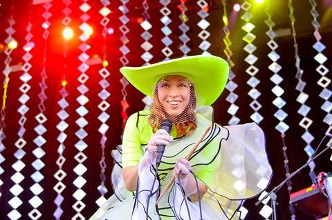 Yukimi Nagano during Little Dragon's main stage set. - BRIAN BRENEMAN