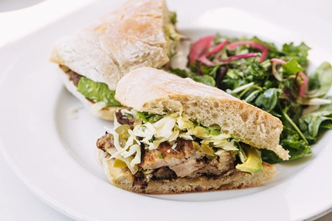 Howden does sandwiches right: The pork confit with avocado was decadent and delicious. - PHOTO BY ANDRIA LO