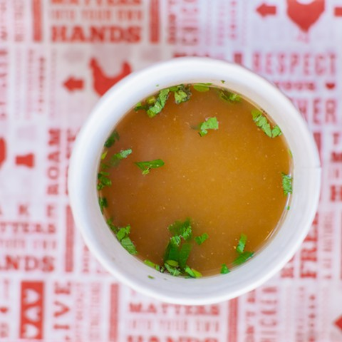 Bone broth at Proposition Chicken. - COURTESY OF PROPOSITION CHICKEN