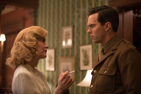 Sarah Paulson and Nicholas Hoult in Rebel in the Rye.