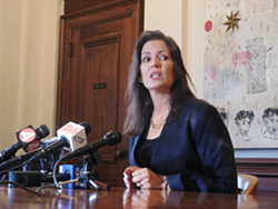 """Oakland Mayor Libby Schaaf told reporters this morning that she had preferred other sites besides Laney, but still called the proposal a """"tremendous opportunity."""""""