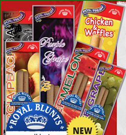 "Flavored blunt wrappers manufactured by New Image Global including ""Chicken & Waffles."" - NEW IMAGE GLOBAL"