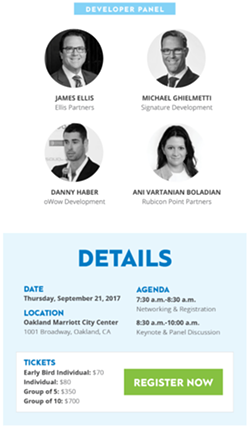 Danny Haber was scheduled to speak on the event's developer panel immediately following Mayor Libby Schaaf. - HTTP://NEWS.THEREGISTRYSF.COM/