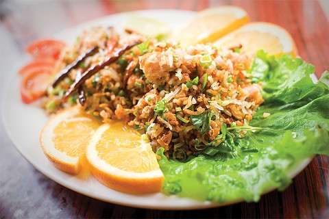 Oakland's Vientian Cafe makes one of the best Lao-style crispy rice salads in the region. - FILE PHOTO BY CHRIS DUFFEY