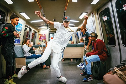 Some of the dancers have gotten work in music videos as a result of their performances on BART. - PHOTO BY TALIESIN GILKES-BOWER
