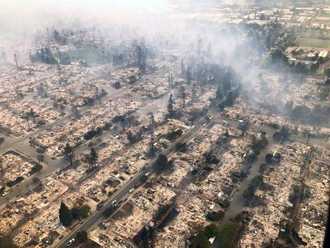 The Tubbs fire destroyed the Coffey Park neighborhood in Santa Rosa. - PHOTO COURTESY OF CHP