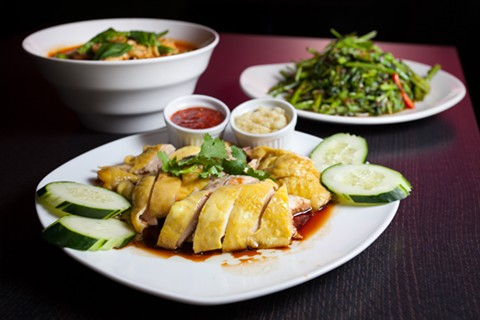 Chilli Padi served dishes popular in Malaysia, such as Hainanese chicken. - BERT JOHNSON