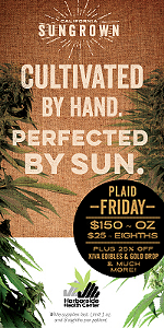 Celebrate Plaid Friday with SunGrown Specials at Harborside!