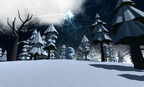 A screenshot from Rudy Lemke's CLOUD FOREST.
