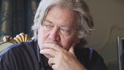 Steve Bannon ponders the world situation in The Brink