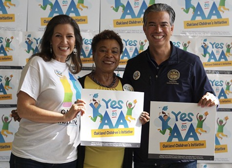 Oakland Mayor Libby Schaaf, Rep. Barbara Lee, and Assembymember Rob Bonta were strong supporters of Measure AA.