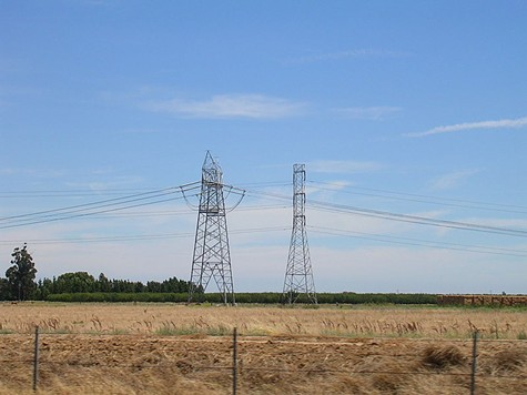 PG&E power lines near Vacaville.