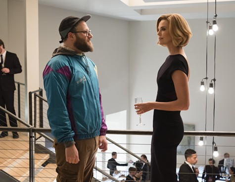 Seth Rogen and Charlize Theron hit the campaign trail in Long Shot