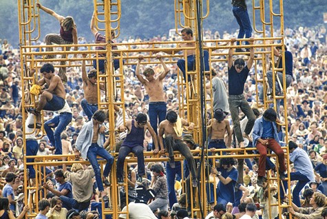 A scene from Woodstock: Three Days That Defined a Generation.
