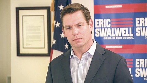 Rep. Eric Swalwell announcing the end of his quest for the presidency.