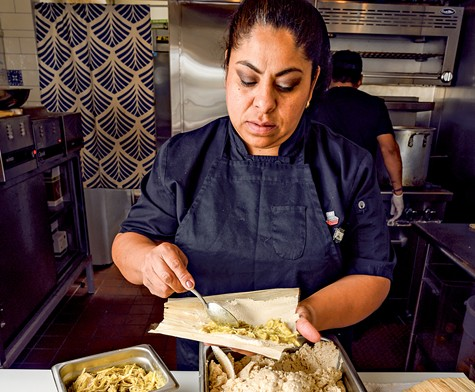 Ofelia Barajas has built the menu of La Guerrera's Kitchen around corn.