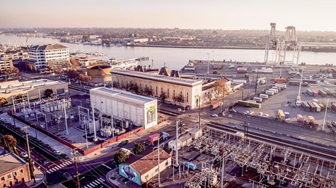 The Oakland substation is near one of the two underwater transmission lines that serve Alameda.