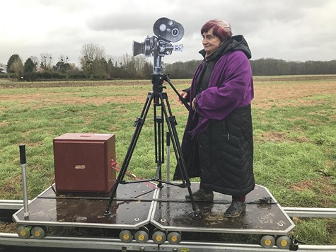 Varda on location.