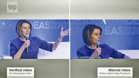 The Washington Post compared an actual video of Nancy Pelosi with a doctored version that blew up online.