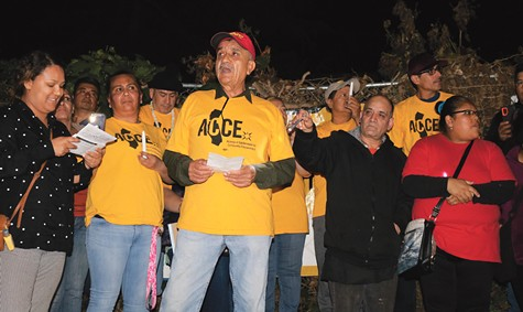 """ACCE showed us how to fight for tenant rights and how to raise our voice,"" Maria Montes de Oca said."
